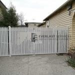 DG70 - Aluminium White Pickets Double Gate 2
