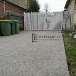 DG69 - Aluminium White Pickets Driveway Double Gate 3