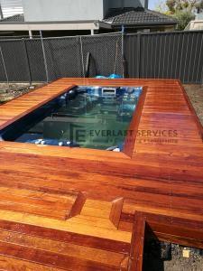 Spa Raised Timber Decking Top