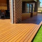 Back Yard Decking with Seats
