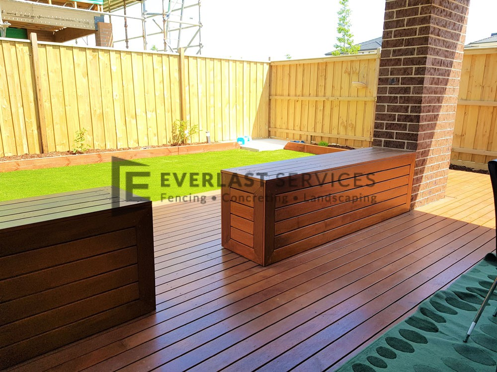 Decking Bench Seats Back View 2