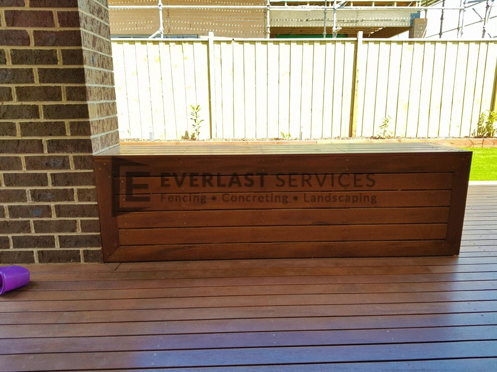 Decking Bench Seats Back View