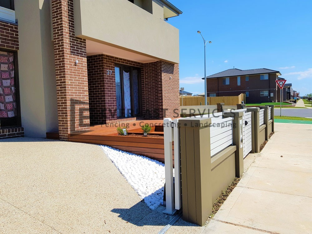 Front Decking Garden Boxes with Modular Fencing