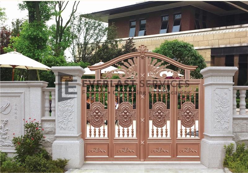 AD4 - Aluminium Art Decor Fencing White Stone