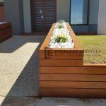 T119 -Front View Merbau Garden Box