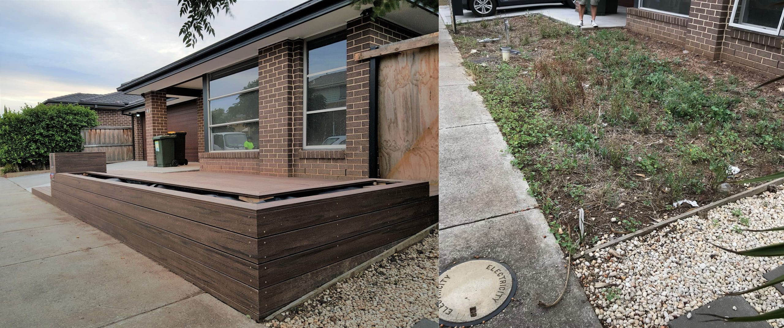 Front Before and After Modwood Garden Box