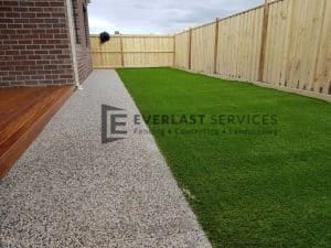 Backyard Footpath With Synthetic Grass