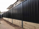 Custom Colourbond Fencing with Retaining Wall