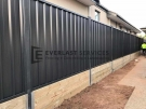 Custom Colourbond Fencing with Retaining Wall View 2