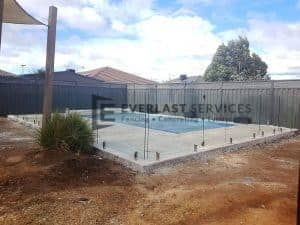 Glass Fencing and Paving