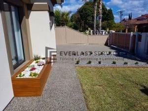 Concrete + Garden Box + Turf