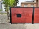 SS141 – Black Post + Frame Jarrah Delivery Eze mailbox