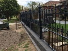 SF8 – Black Heritage Spear Fencing with Bluestone Base