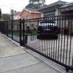 SG20 - Black Level Ring Steel Sliding Motorised Gate - Melbourne