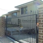 AD2 - Black Level Spear Steel Sliding Gate