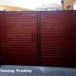 DG8 - Black Frame + Jarrah Slats Double Gate - Laverton