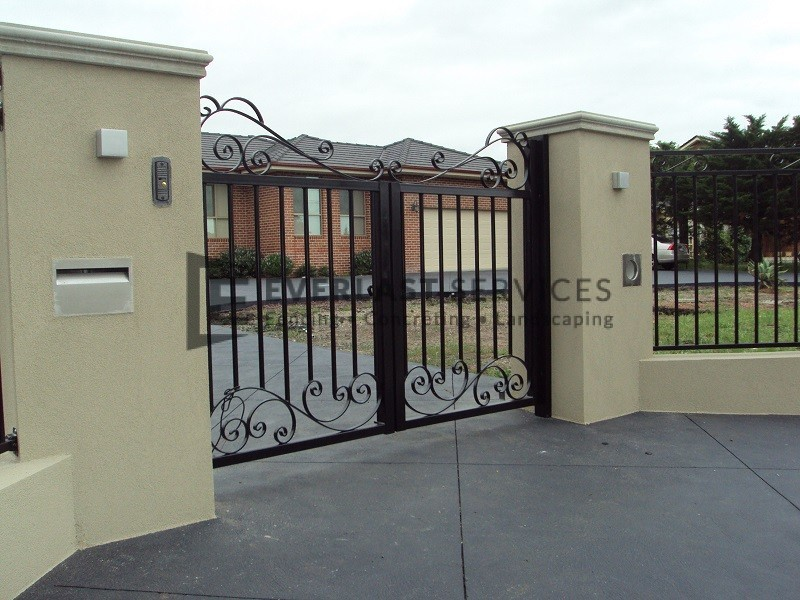 DG16 - Custom Steel Pattern Design Double Gate - Werribee
