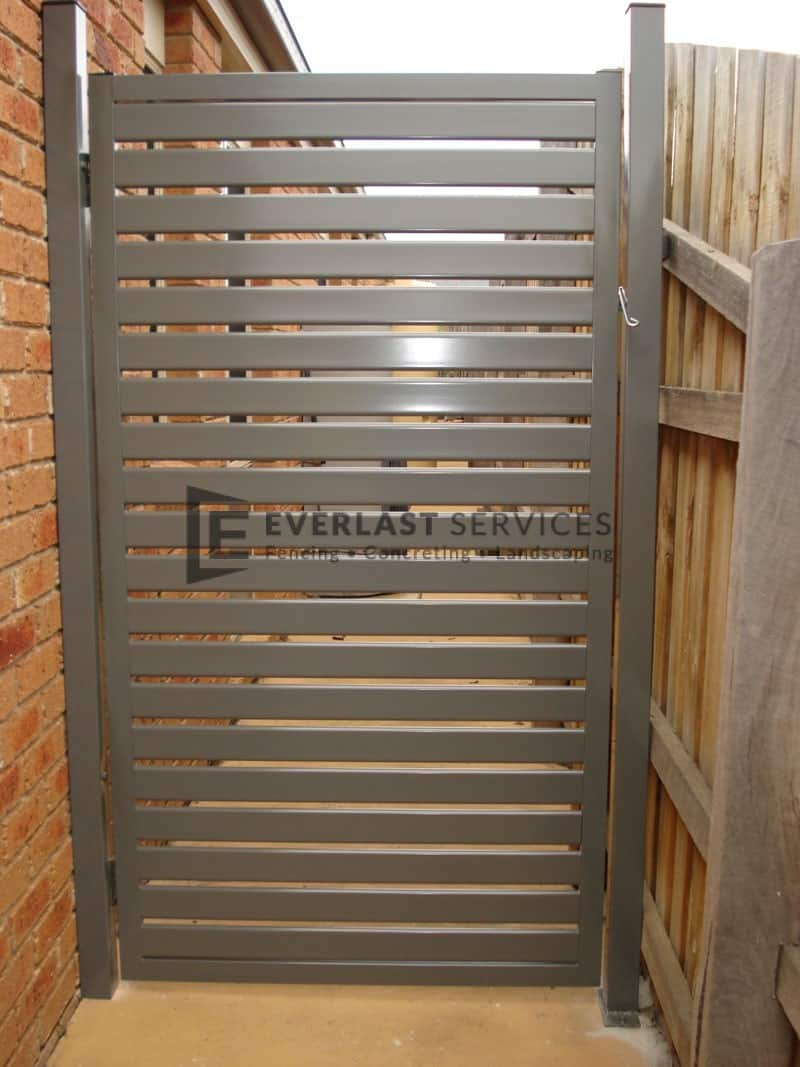 DW34 - Horizontal Steel Slats Single Gate