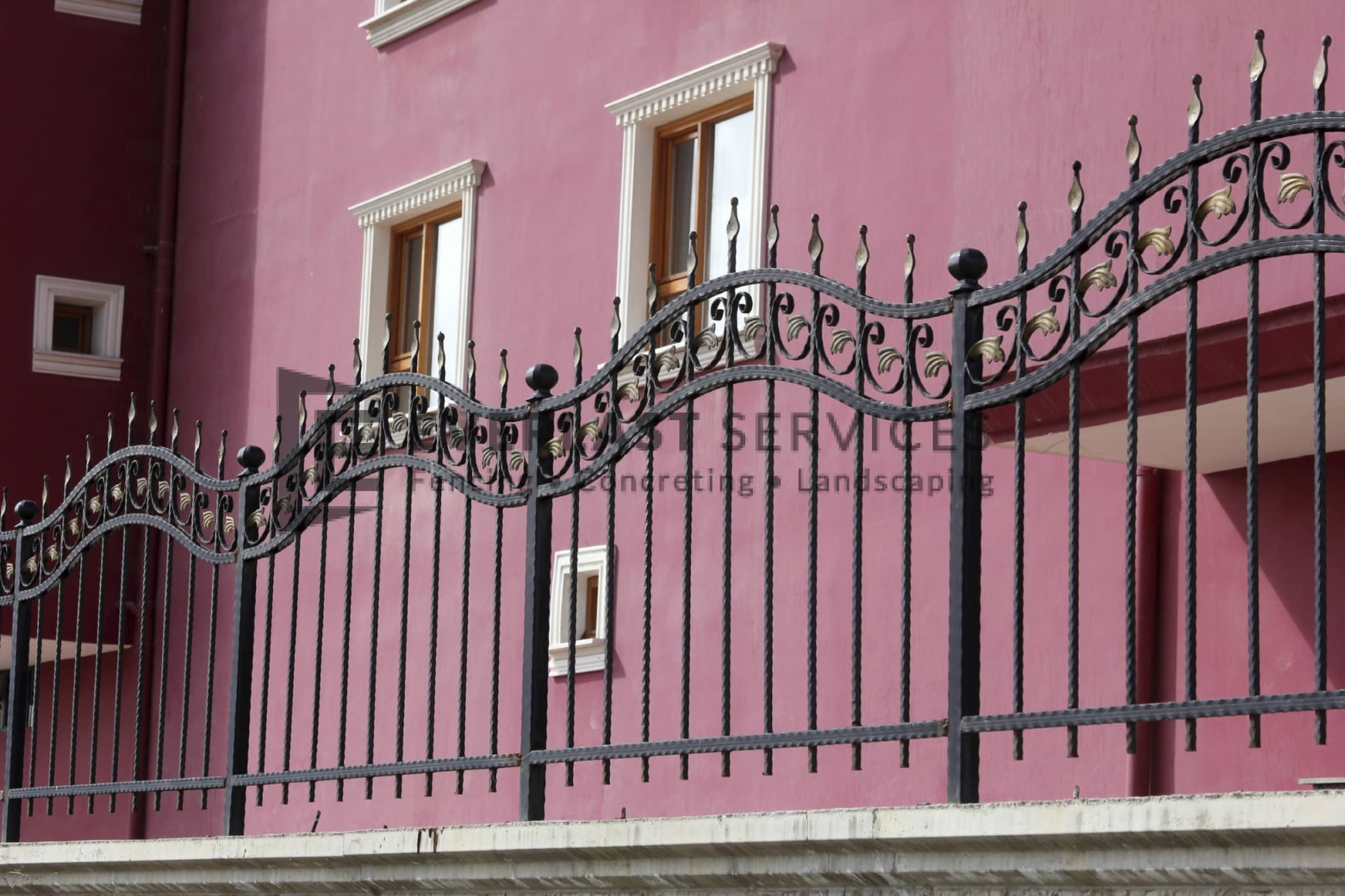 Steel Fencing Melbourne Metal Wrought Iron Fence Panels