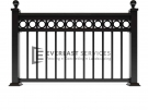 SF36 – Ball Cap Wraught Iron Level Ring Fence Panels