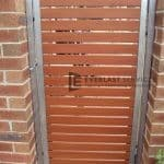 SS44 - Galvanised Frame wtih WRC Slats Single Gate