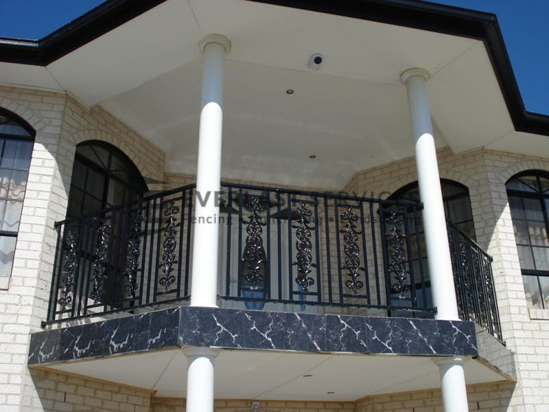 SF47 - Black Custom Pattern Steel Fencing Balustrade