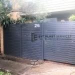 SS115 - 516 Moreland Road Horizontal Aluminium Slats Fence Gate