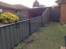 CB6 – Black Colorbond Fence