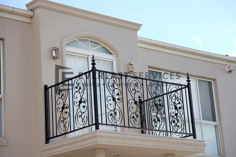 SF76 - Custom Made Wraught Iron Balustrade - Werribee