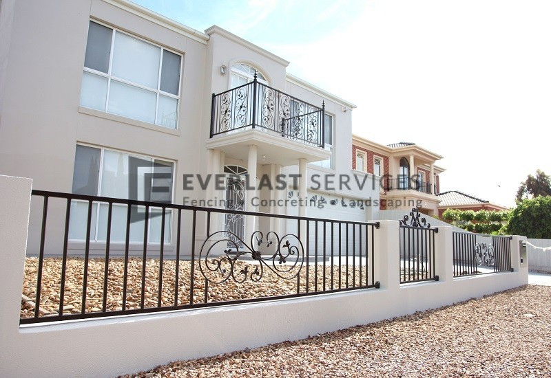 SF77 - Custom Made Wraught Iron Balustrade Long View - Werribee