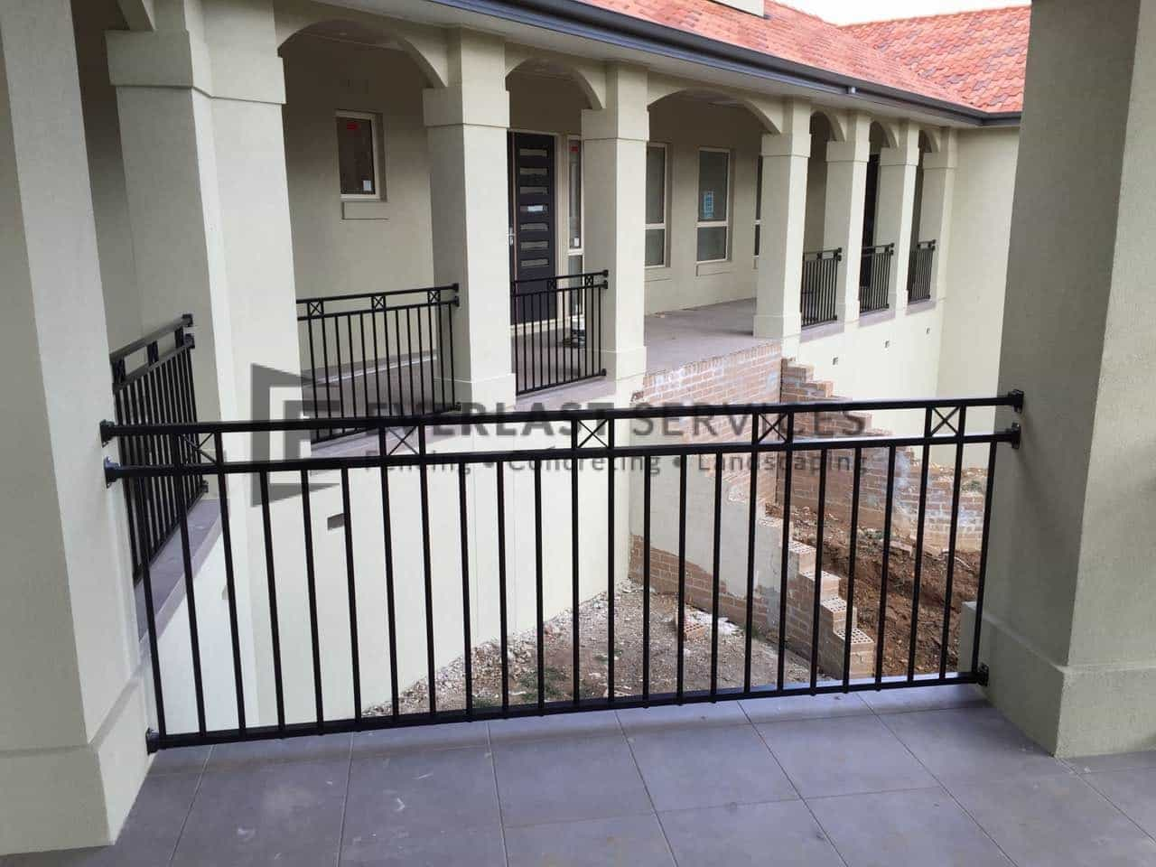 SF84 – Black Custom Oxley Cross Balustrade View 5