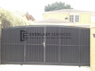 SG9 – Mini Orb Cladded Sliding Gate with Inbuilt Single Gate Back View