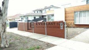 A84 - Western Red Cedar Slats Dividing Fence