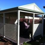 A25 - White Horizontal Slats with Gazebo