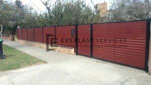 A99 - Jarrah Aluminium Slats with Double Gate 2