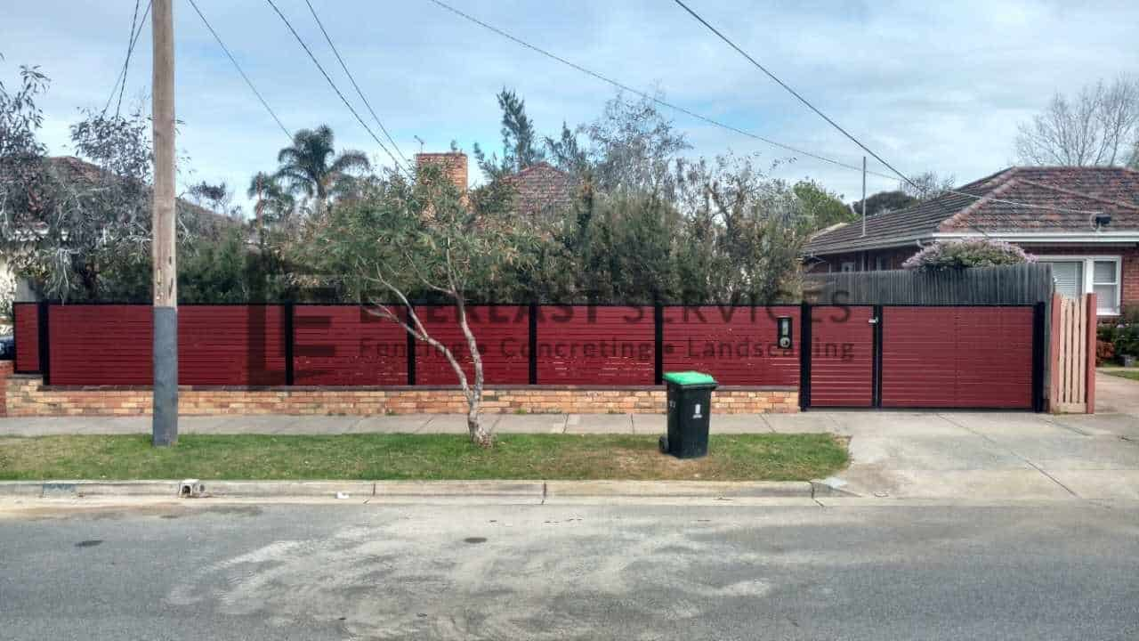 A98 - Jarrah Aluminium Slats with Double Gate