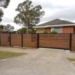 A184 - Aluminium Kawila Slats Fencing with Sliding Gate