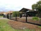 SF153 – Black Boundary Steel Fence