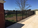 SF96 – Black Flat Top Boundary Fencing