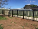 SF97 – Black Flat Top Boundary Fencing View 2