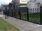 SF95 – Black Heritage Spear Steel Fencing – Strathmore View 2