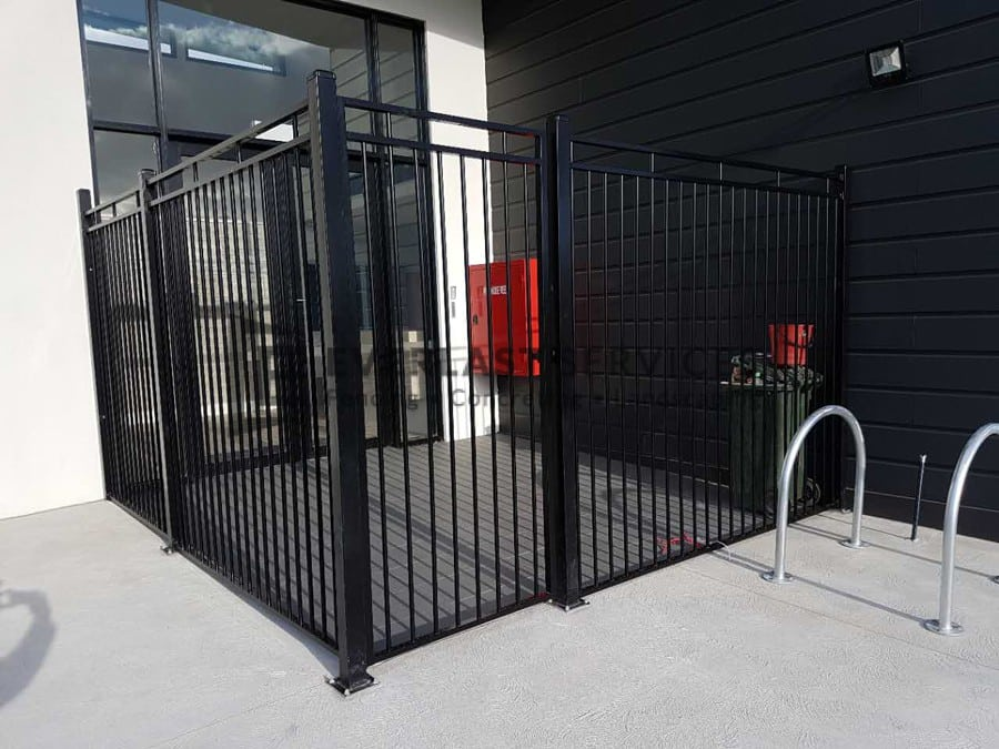 SF159 - Custom Steel Black Fencing