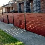 A90 - Front Slats Fence + Single Gate in Altona
