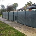 A183 - Grey Horizontal Slats Front Fence