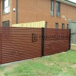 A35 - Horizontal Jarrah Slats Fencing Infills Point Cook