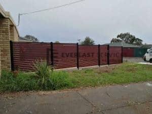 A152 - Jarrah Slats Fence