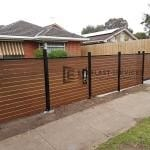 A185 - Aluminium Kawila Slats Fencing with Sliding Gate 2