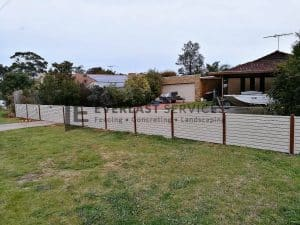 A173 - Residential Aluminium Slats Fencing