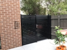 SS67 – Black Slats Single Gate at Ivanhoe
