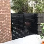 SS67 - Black Slats Single Gate at Ivanhoe